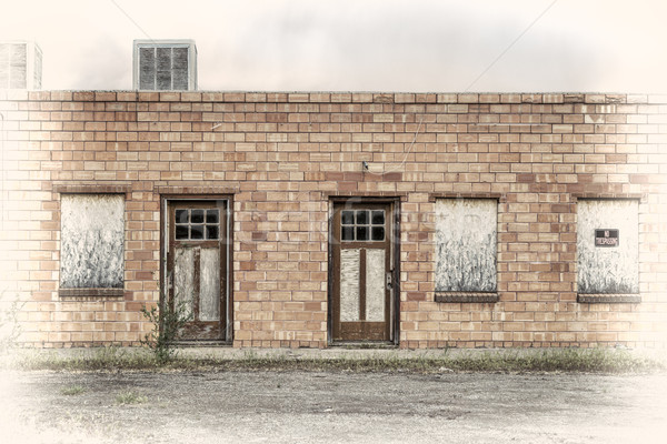 abandoned motel in a ghost town  Stock photo © PixelsAway