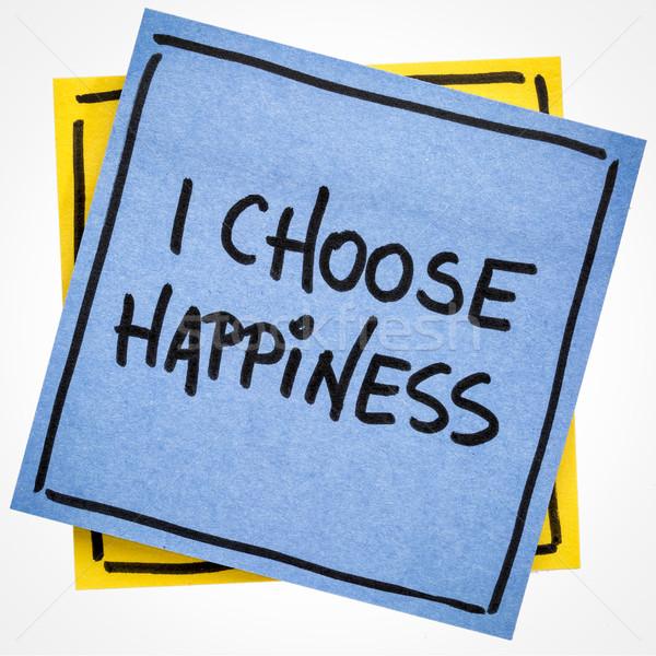 I choose happiness positive affirmation Stock photo © PixelsAway