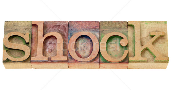 Rázkódás szó magasnyomás izolált klasszikus Stock fotó © PixelsAway