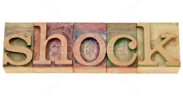 Choque palavra tipo isolado vintage Foto stock © PixelsAway