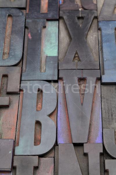 antique alphabet letters Stock photo © PixelsAway