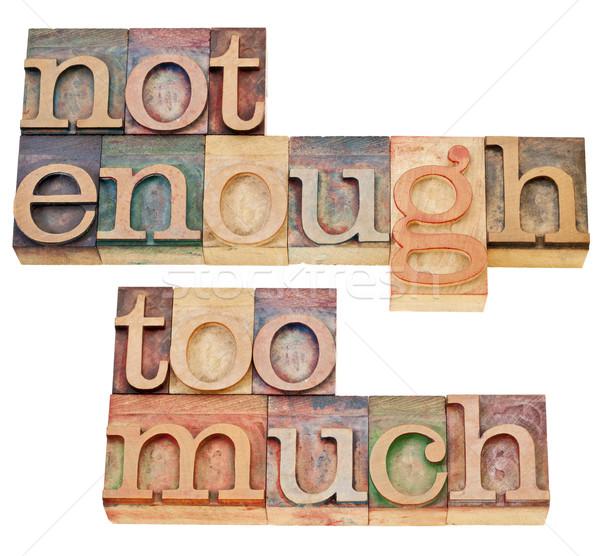 Não suficiente fornecer colagem Foto stock © PixelsAway
