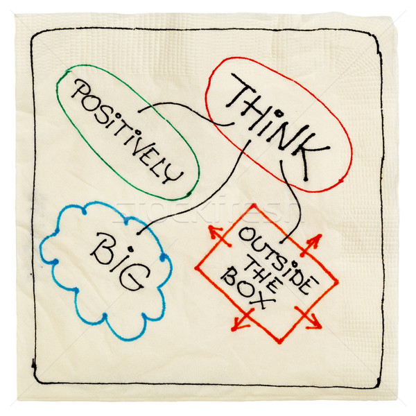 think positively, big, creative Stock photo © PixelsAway