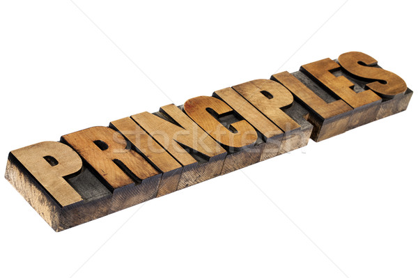 principles word in wood type Stock photo © PixelsAway