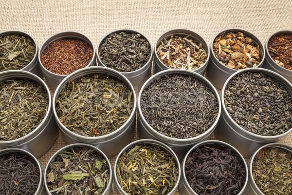 loose leaf tea background Stock photo © PixelsAway