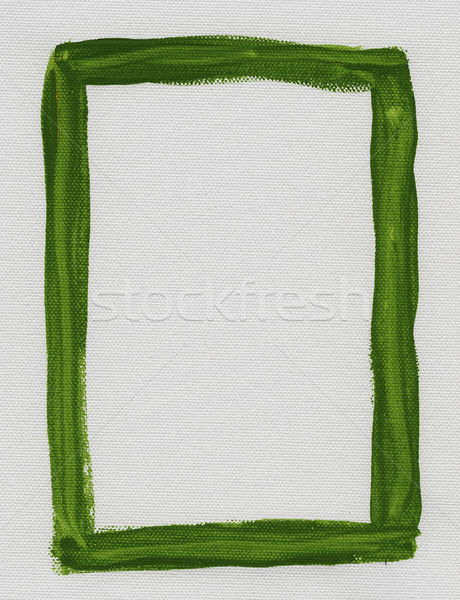 green frame painted on white canvas Stock photo © PixelsAway