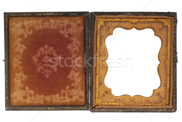 antique photography case with blank picture frame Stock photo © PixelsAway