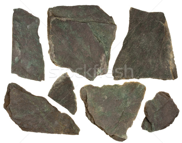 pieces of slate rock with red and green tint Stock photo © PixelsAway