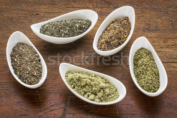 seaweeds - diet supplements Stock photo © PixelsAway