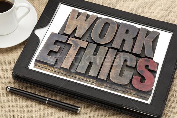 Lavoro etica digitale tablet vintage Foto d'archivio © PixelsAway