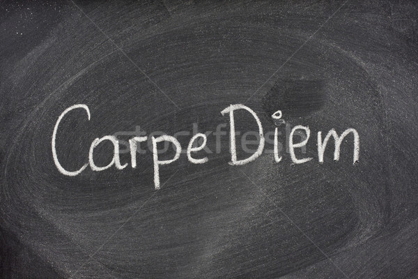 Carpe Diem phrase on blackboard Stock photo © PixelsAway