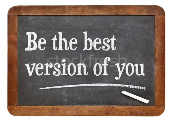 O melhor versão motivacional palavras vintage Foto stock © PixelsAway
