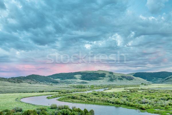dusk over North Platte River in Colorado Stock photo © PixelsAway