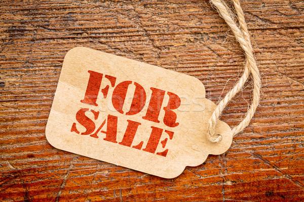 Vásár felirat ár címke papír rusztikus Stock fotó © PixelsAway