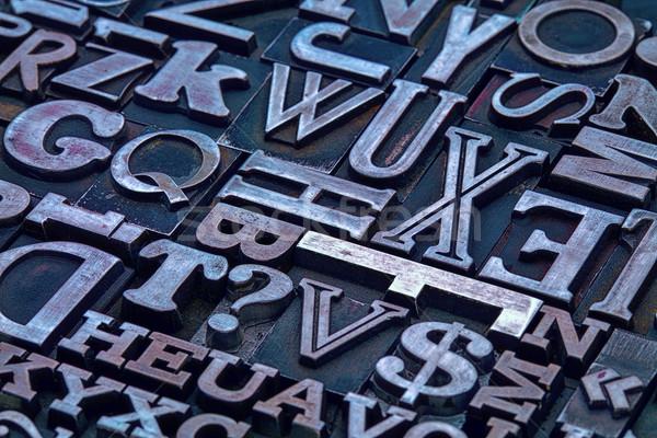 letterpress metal type abstract Stock photo © PixelsAway