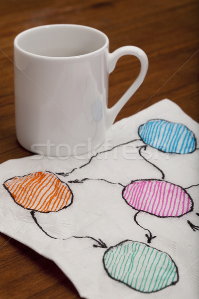 blank abstract flowchart on napkin Stock photo © PixelsAway