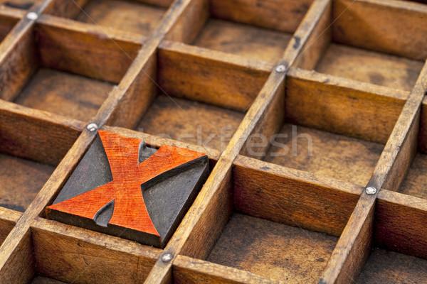letterpress wood type  letter X  Stock photo © PixelsAway