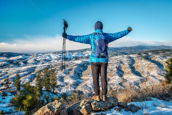 winter hiking Rocky Mountains foothills Stock photo © PixelsAway
