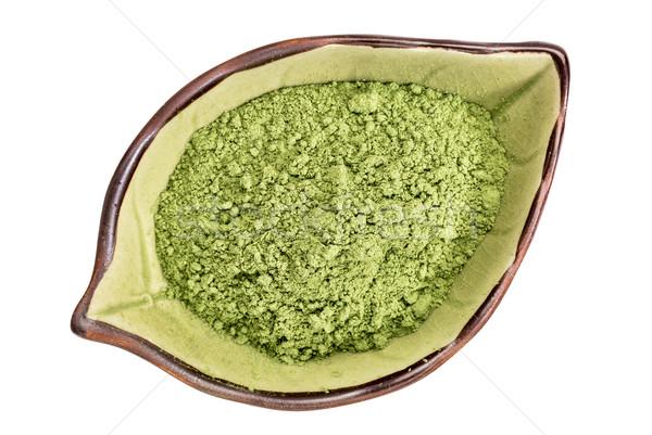 Organiczny jęczmień trawy proszek odizolowany liści Zdjęcia stock © PixelsAway