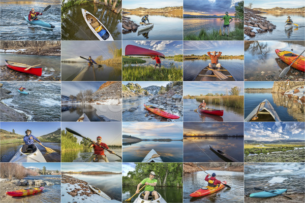 kayak and canoe picture collection Stock photo © PixelsAway