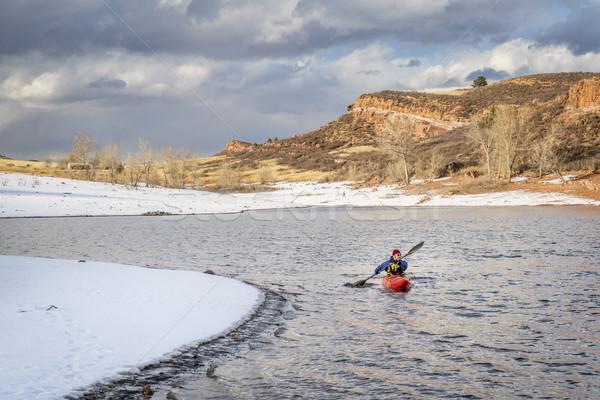 winter kayaking in northern Colorado Stock photo © PixelsAway
