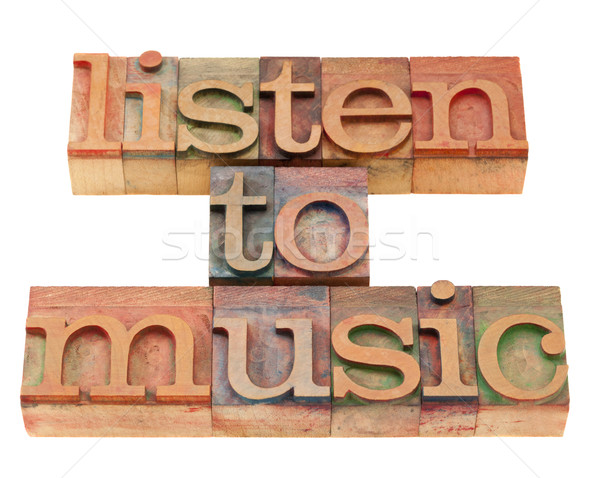 listen to music suggestion Stock photo © PixelsAway