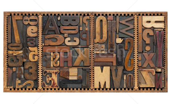 Vintage lettres nombre ponctuation signes Photo stock © PixelsAway