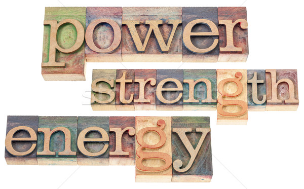 power, strength, energy words Stock photo © PixelsAway