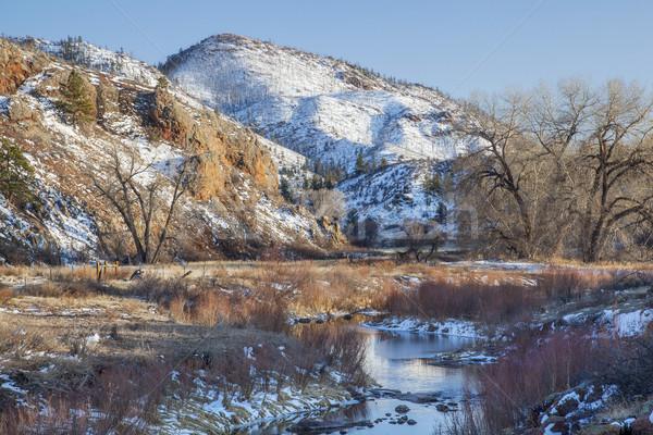 winter in mountain valley Stock photo © PixelsAway