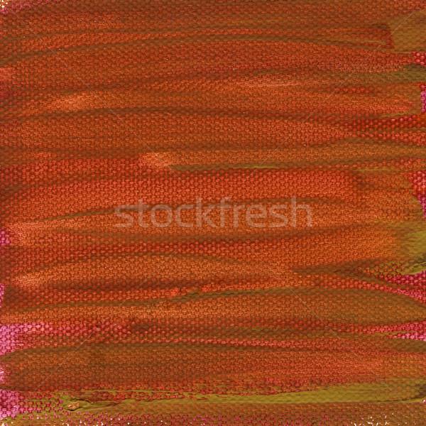 Kırmızı boyalı tuval doku turuncu yeşil Stok fotoğraf © PixelsAway