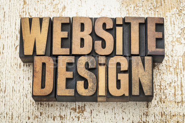 website design in wood type Stock photo © PixelsAway