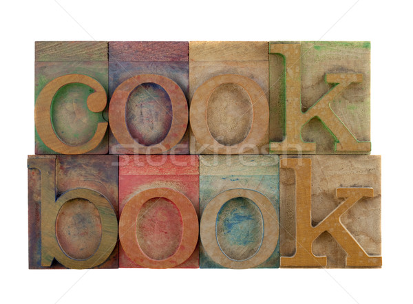 Libro de cocina palabra vintage tipo Foto stock © PixelsAway