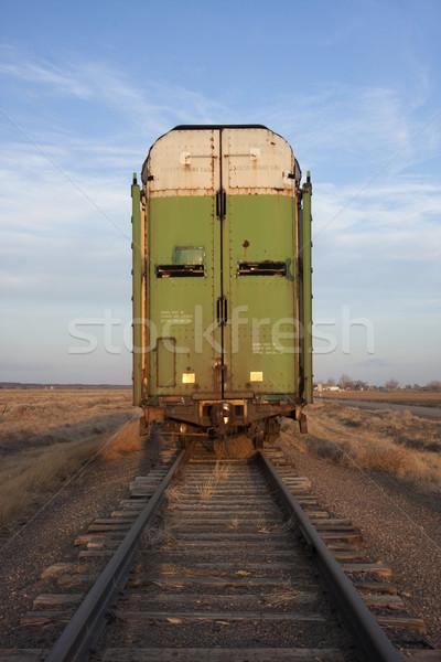old stock rail car for livestock transportation  Stock photo © PixelsAway
