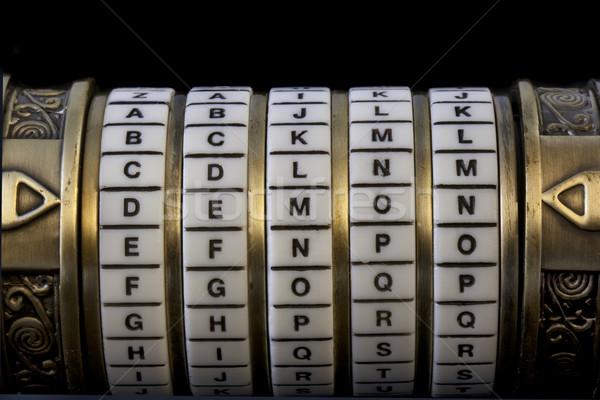 Demon wachtwoord combinatie puzzel vak woord Stockfoto © PixelsAway