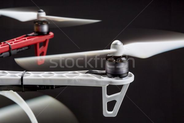 blurred rotors of a drone  Stock photo © PixelsAway