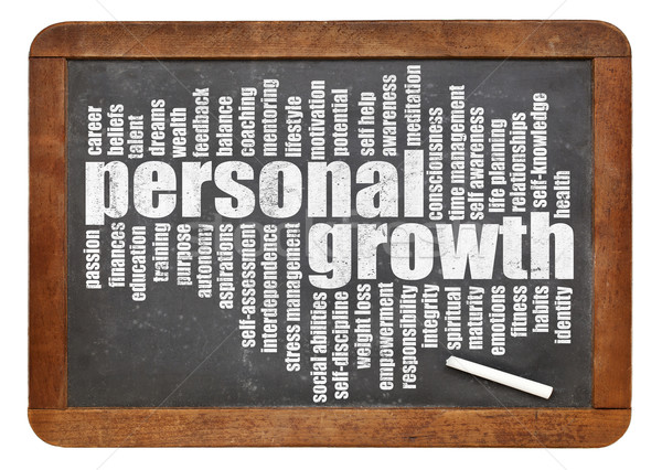 personal growth word cloud Stock photo © PixelsAway