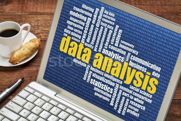 データ 分析 言葉の雲 ノートパソコン カップ コーヒー ストックフォト © PixelsAway