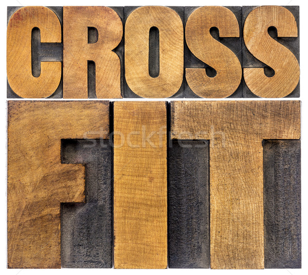 Crossfit woord abstract geïsoleerd tekst Stockfoto © PixelsAway