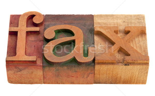 fax word in letterpress type Stock photo © PixelsAway