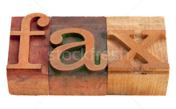 Fax mot type vintage bois Photo stock © PixelsAway