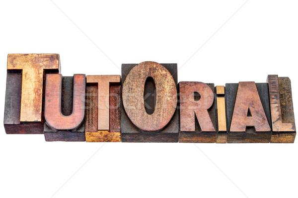 Tutorial parola mista legno tipo isolato Foto d'archivio © PixelsAway