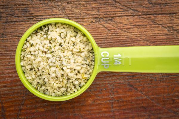measuring scoop of hemp seed  Stock photo © PixelsAway