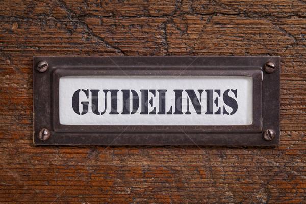 guidelines file cabinet label Stock photo © PixelsAway