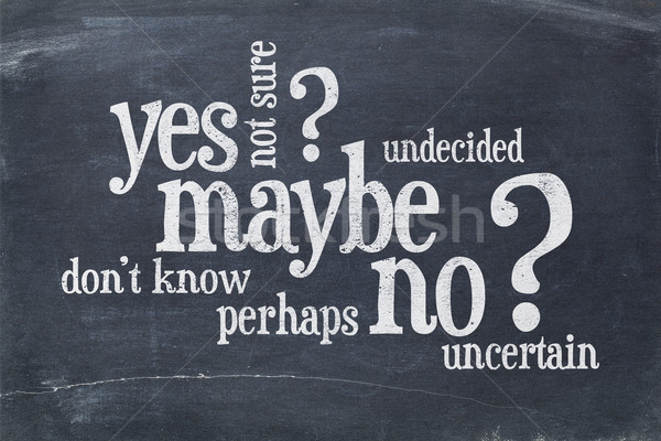 yes, no, maybe word cloud Stock photo © PixelsAway