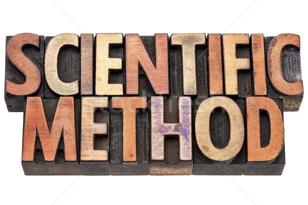 Kutatás tudományos módszer tipográfia klasszikus magasnyomás Stock fotó © PixelsAway