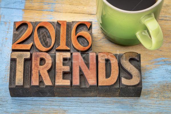 Foto stock: 2016 · tendências · madeira · tipo · bandeira · texto