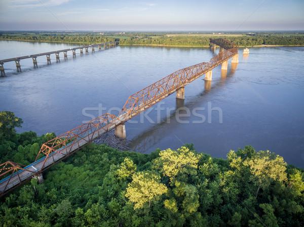 Cadena rocas puente edad nuevos Misisipí Foto stock © PixelsAway