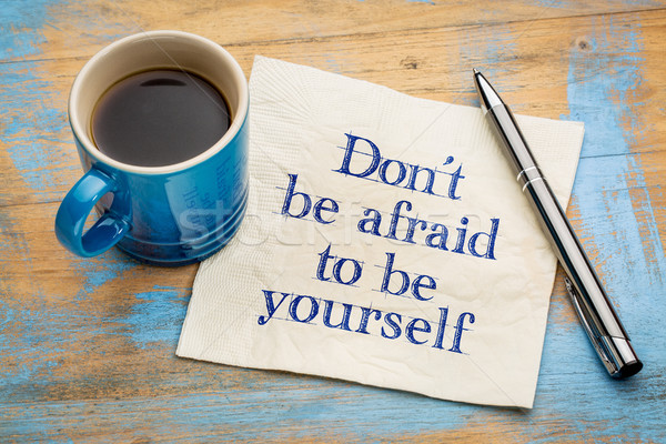 Be yourself concept on napkin Stock photo © PixelsAway