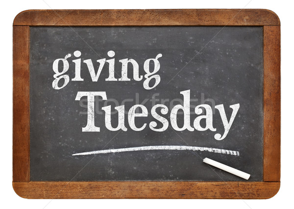 Giving Tuesday blackboard sign Stock photo © PixelsAway