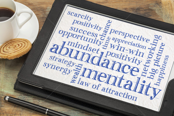 abundance mentality word cloud Stock photo © PixelsAway